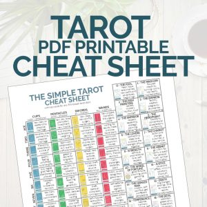 PDF printable tarot cheat sheet from The Simple Tarot.