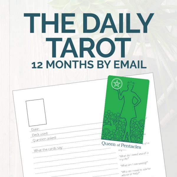 12 months of Tarot Card of the Day emails from The Simple Tarot.