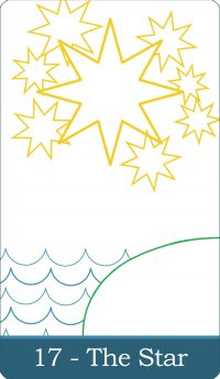The Star tarot card from The Simple Tarot Deck (Classic Version) available at thesimpletarot.com.