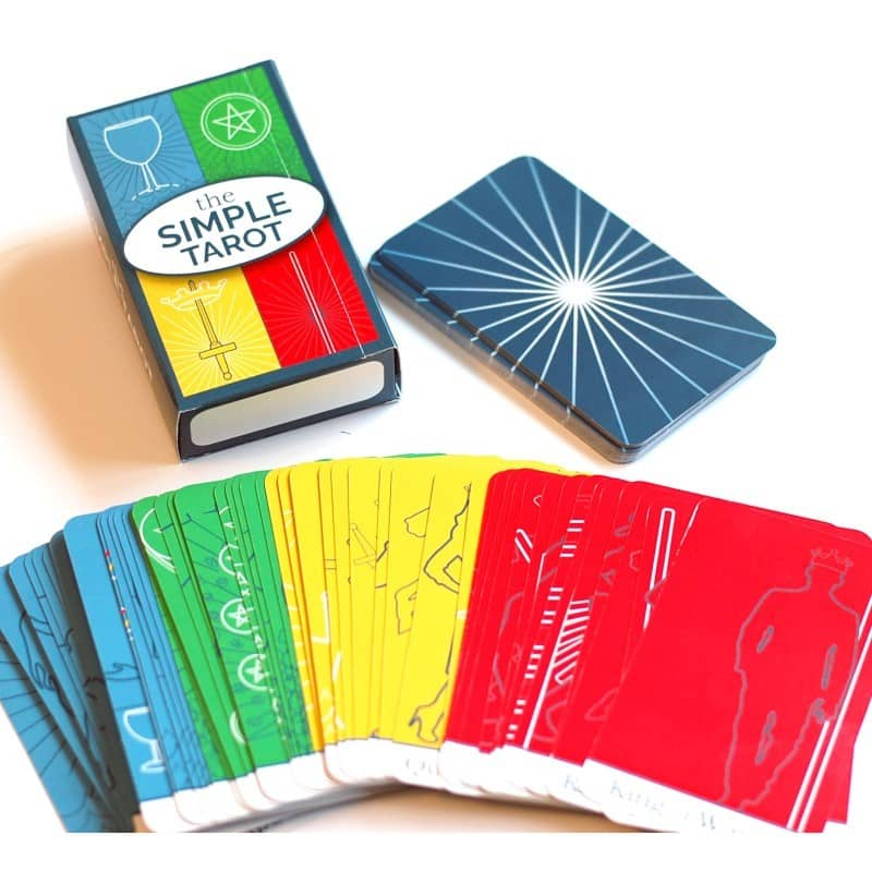 The Simple Tarot Deck with or without keywords on the tarot cards.
