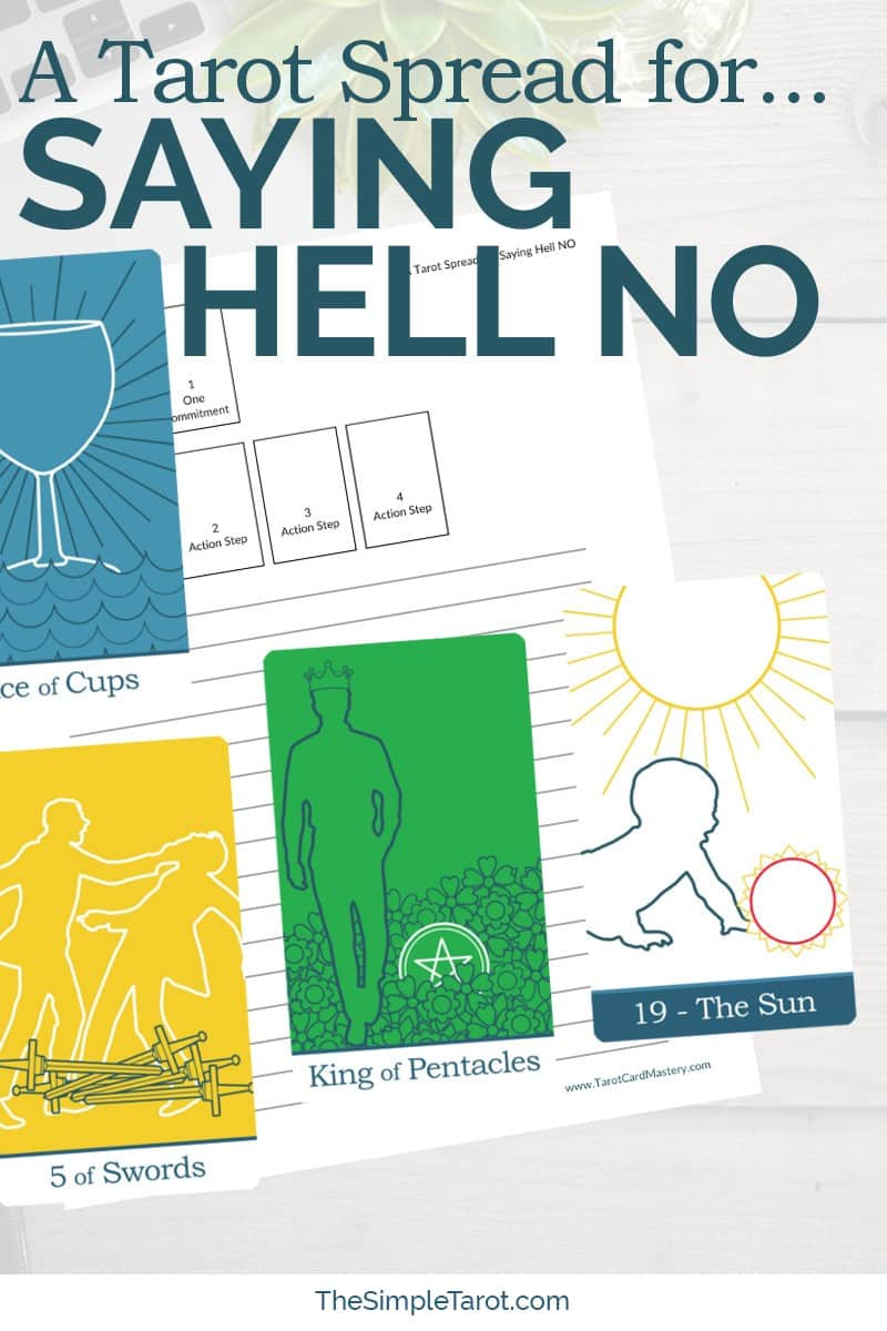 Do you struggle with saying no? Use this Tarot Spread for Saying Hell No from The Simple Tarot to help you out! Visit www.TheSimpleTarot.com to learn more...