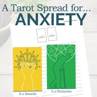 A Tarot Spread for Anxiety