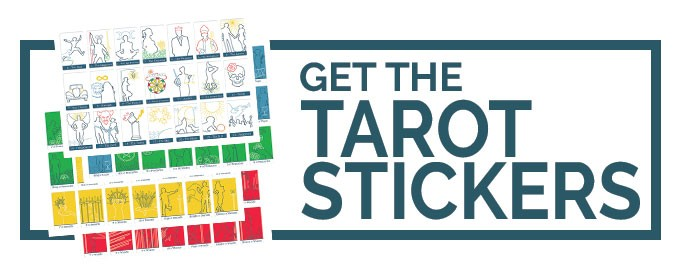 Get the Tarot Stickers from The Simple Tarot